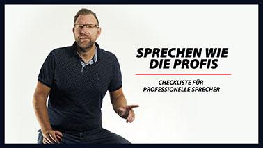 №11 - Checkliste für professionelle Sprecher